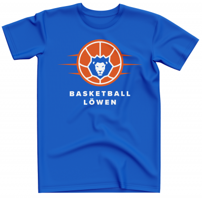 T-Shirt | Herren | Basketball Löwen | royal blau