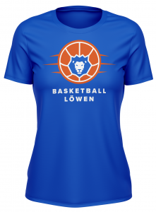 T-Shirt | Damen | Basketball Löwen | royal blau