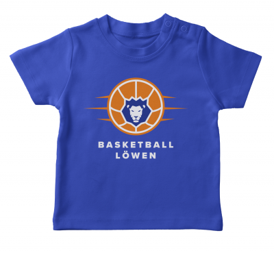 Baby Shirt | Basketball Löwen | royal blau