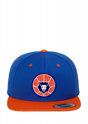 Basecap, Snapback blau-orange | Basketball Löwen