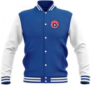 College Sweatjacke | Herren | Basketball Löwen | royal/weiß